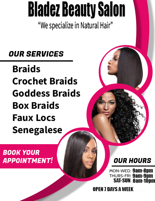 natural hair salons near me